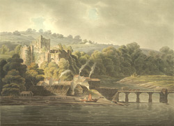 View of Chepstow castle on the River Wye 6-k